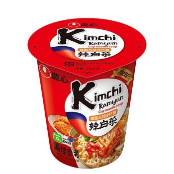 農心 韓國泡菜味杯麵(75g *12杯/箱)|日韓泡麵