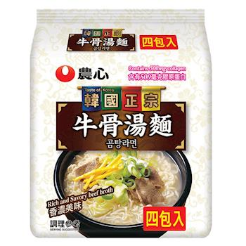 農心 牛骨湯麵(111gX4包/8組)|日韓泡麵