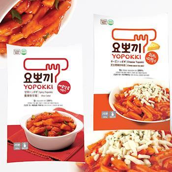 YOPOKKI 甜辣味辣炒年糕280g/芝士味辣炒年糕240g(6袋/組)|日韓泡麵