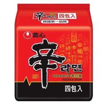 農心 辛拉麵(120gX4包/8組) |日韓泡麵