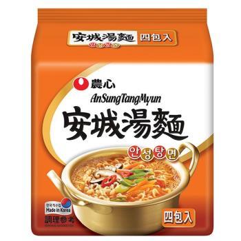 農心 安城湯麵(125gX4包/8組)|日韓泡麵