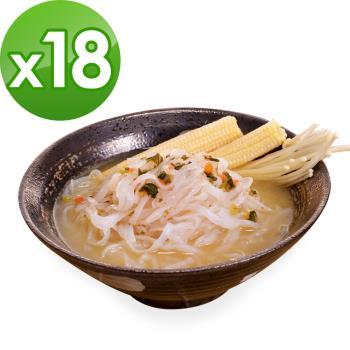 (即期品)樂活e棧 低卡蒟蒻麵 鐵板細麵+濃湯(共18份)|蒟蒻麵