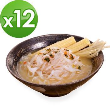 (即期品)樂活e棧 低卡蒟蒻麵 鐵板細麵+濃湯(共12份)|蒟蒻麵