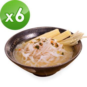 (即期品)樂活e棧 低卡蒟蒻麵 鐵板細麵+濃湯(共6份)|蒟蒻麵
