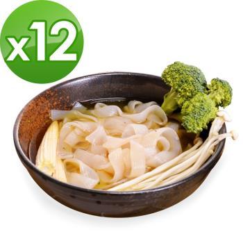 樂活e棧 低卡蒟蒻麵 板條寬麵+濃湯(共12份)|蒟蒻麵