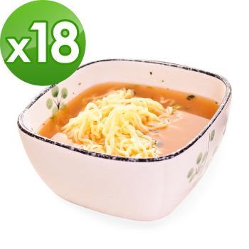 (即期品)樂活e棧 低卡蒟蒻麵 燕麥涼麵+濃湯(共18份)|蒟蒻麵