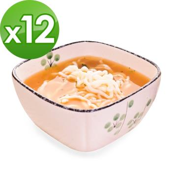 (即期品)樂活e棧 低卡蒟蒻麵 燕麥拉麵+濃湯(共12份)|蒟蒻麵