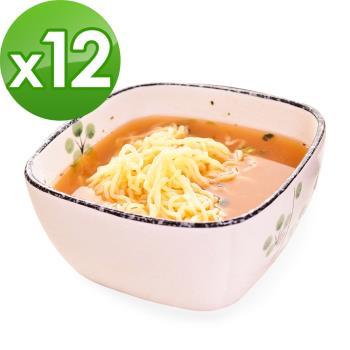 (即期品)樂活e棧 低卡蒟蒻麵 燕麥涼麵+濃湯(共12份)|蒟蒻麵