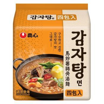 農心 馬鈴薯豬骨湯風味麵(133g×4包/4組)|日韓泡麵