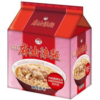 台酒TTL 紅標米酒麻油雞袋麵(12包入/箱)|台灣|南洋泡麵