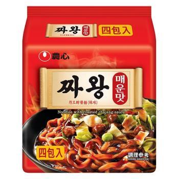農心 炸王醡醬麵辣味(140g×4包/4組)|日韓泡麵