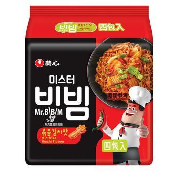 農心 拌先生泡菜乾麵(148gX4包/4組)|日韓泡麵