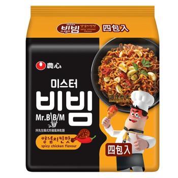 農心 拌先生韓式炸雞風味乾麵(148gX4包/4組)|日韓泡麵