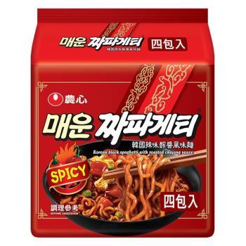 農心韓國辣味醡醬風味麵(137gX4包/4組)|日韓泡麵