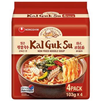 農心 韓式刀削麵-香辣海鮮味(103g×4包/4組)|日韓泡麵