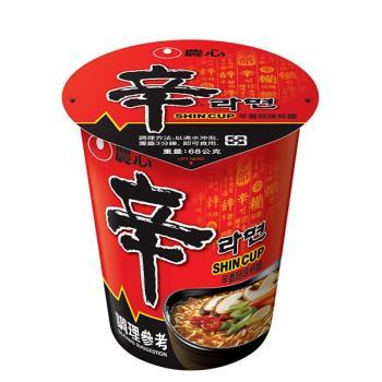 【農心】辛香菇味杯麵(75gx12杯/箱)|日韓泡麵