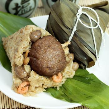 現購【食尚達人】獅子頭鮮肉粽12顆組(150g/顆)|創意粽
