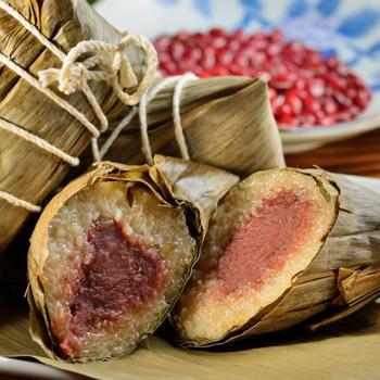 預購-南門市場老林記 淨素豆沙粽 3入/組 四組(06/3~06/6 出貨)|冰粽/甜粽