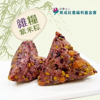現購-[育成社會福利基金會]永和食堂-雜糧紫米粽(160g/顆,共六顆)|養生粽