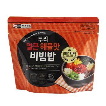 【DOORI DOORI】石鍋拌飯 - 海鮮炒碼口味  ( 137.5g/包 )  x5包|日韓泡麵