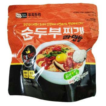【DOORI DOORI】泡飯+泡麵 - 韓式辣豆腐口味  ( 95g/包 ) x5包|日韓泡麵