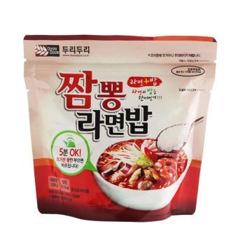 【DOORI DOORI】泡飯+泡麵 - 海鮮炒碼口味  ( 123g/包 ) x5包|日韓泡麵