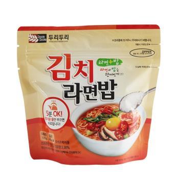 【DOORI DOORI】泡飯+泡麵 - 韓式泡菜口味  ( 105g/包 ) x5包|日韓泡麵