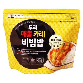 【DOORI DOORI】石鍋拌飯 - 咖哩風味  ( 137g/包 ) x5包|日韓泡麵