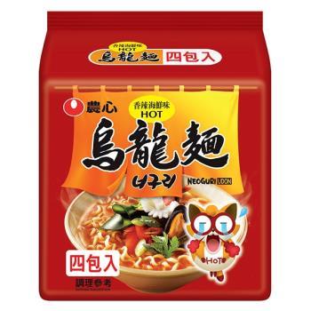 農心 香辣海鮮烏龍麵(120gX4包/8組)|日韓泡麵