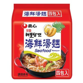 農心 海鮮湯麵(125gX4包/8組)|日韓泡麵