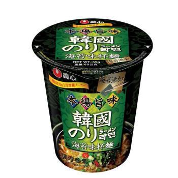 農心 海苔味杯麵(65gx12杯/箱)|日韓泡麵