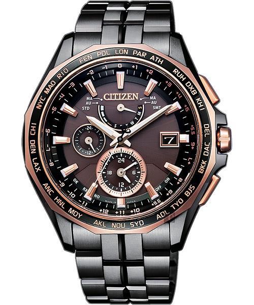 buy popular 2057e bea34 CITIZEN 星辰 光動能電波鈦金屬腕錶 咖啡x黑 43mm AT9096-73E