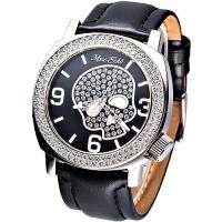 MARC ECKO 嘻皮龐克晶鑽骷髏時尚腕錶(黑)