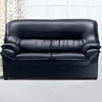 【時尚屋】001型二人座透氣皮沙發(可選色)