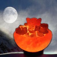 Naluxe 義大利設計水晶鹽燈-大聚寶盆+小元寶組