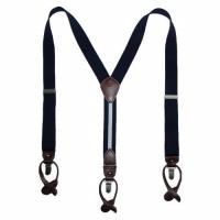 Tommy Hilfiger 2014男士深藍色彈性織帶吊帶褲夾(預購)