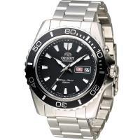 東方錶 ORIENT 200米怒海潛將潛水機械錶 FEM75001B 黑色