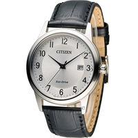 星辰 CITIZEN 光動能復古時光經典腕錶 AW1231-07A 銀