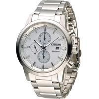 星辰 CITIZEN 急速豪傑光動能計時腕錶 CA0610-52A 白