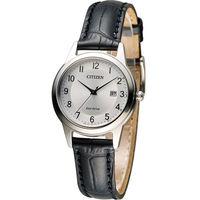 星辰 CITIZEN 光動能復古甜美經典腕錶 FE1081-08A 銀