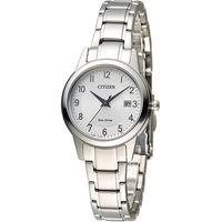 星辰 CITIZEN 光動能復古甜美經典腕錶 FE1081-59B 銀