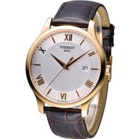 天梭 TISSOT Tradition系列 懷舊古典時尚腕錶 T0636103603800