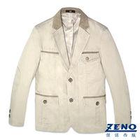 ZENO傑諾 簡約質感休閒西裝外套‧卡其46~54