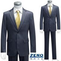 ZENO傑諾 型男時尚宴會修身成套西裝/平口褲‧深紫