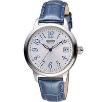 ORIENT 東方錶 花漾時光機械腕錶 FAC06003W 白x藍