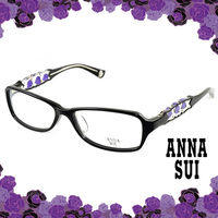 Anna Sui 安娜蘇 紫色祕密薔薇花園造型眼鏡(黑色) AS519-1001