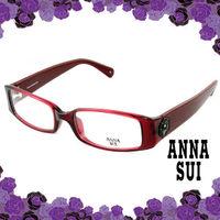 Anna Sui 安娜蘇 經典花園黑色薔薇造型眼鏡(古典紅) AS509282