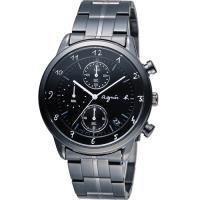 agnes b 悠緩步調 計時腕錶 VD57-00A0SD 黑