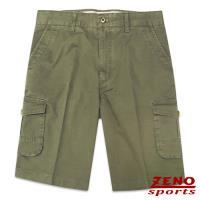 ZENO傑諾 精緻水洗立體口袋休閒短褲‧軍綠31~42