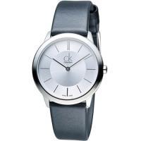 CK Calvin Klein Minimal 俐落時尚腕錶 K3M221C6 銀白
